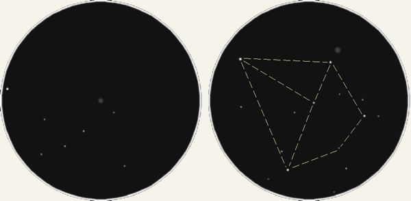 Зарисовка M3 и M5 в бинокль