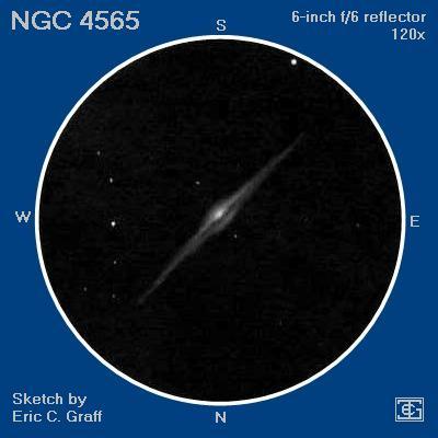 NGC 4565 Зарисовка