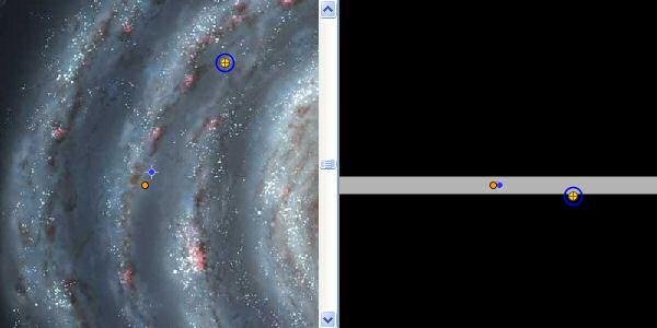 Расположение M 27 и M 71