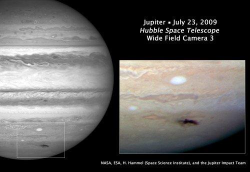 Чёрное Пятно на Юпитере