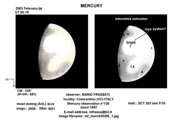 Детали на поверхности Меркурия