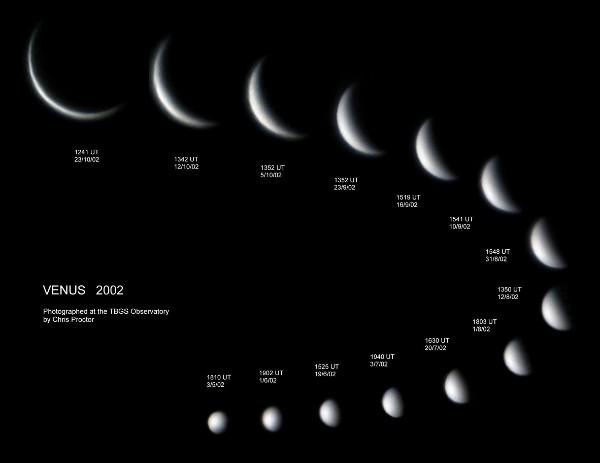Фазы Венеры. Фотография Криса Проктора