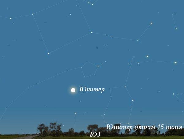 Юпитер утром в июне 2010