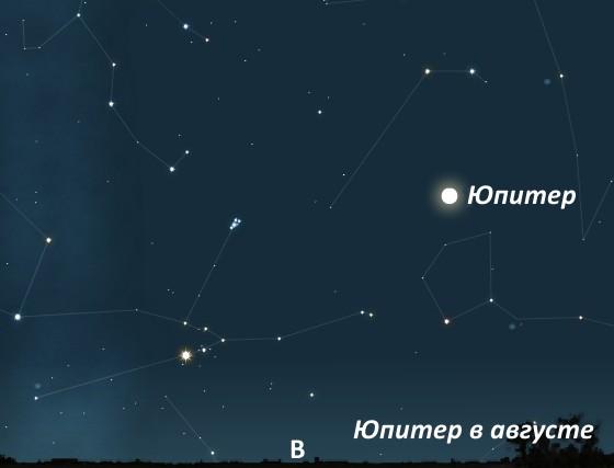 Юпитер в августе 2011
