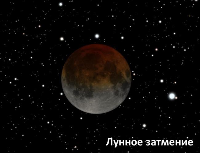 Полная фаза затмения Луны 10 декабря 2011