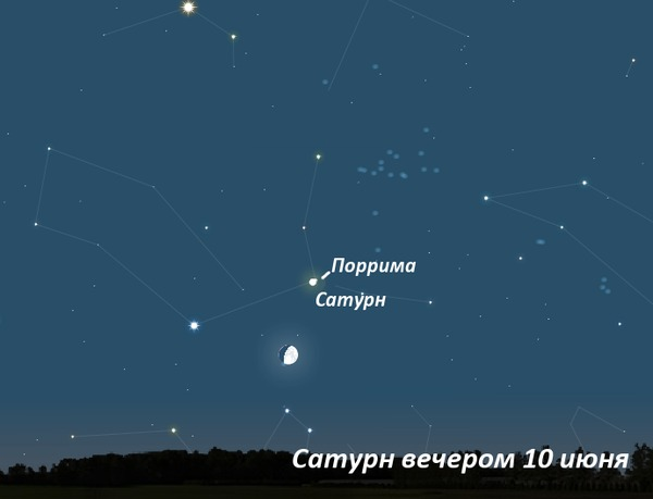 Сатурн вечером в июне 2011