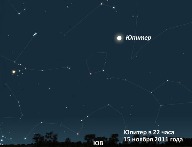 Юпитер в ноябре 2011г