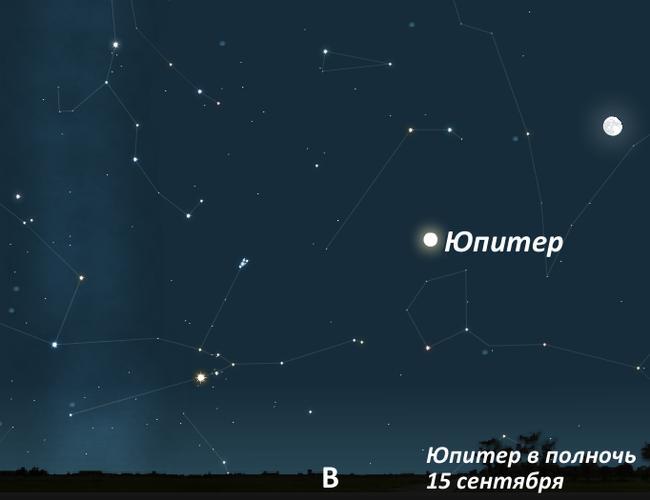 Юпитер осенью 2011