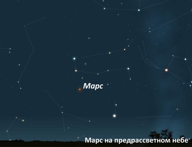 Марс в сентябре 2011