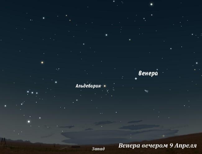 Венера вечером в апреле