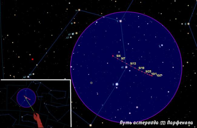 Parthenope карта поисковая