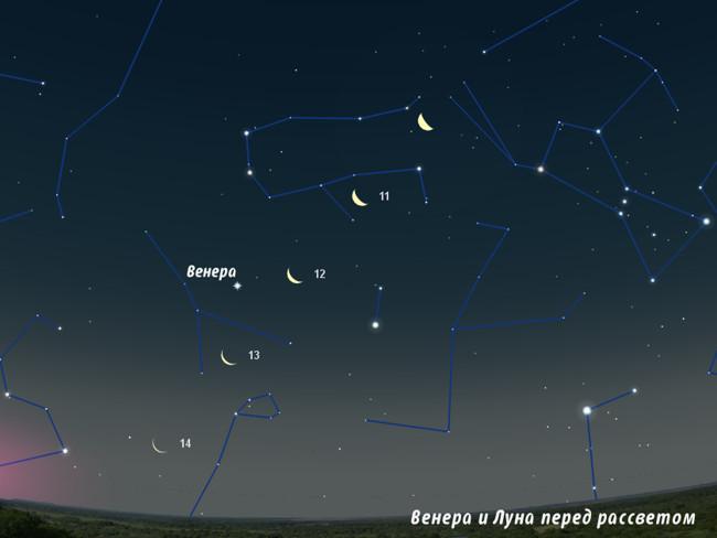 Венера и Луна в сентябре 2012