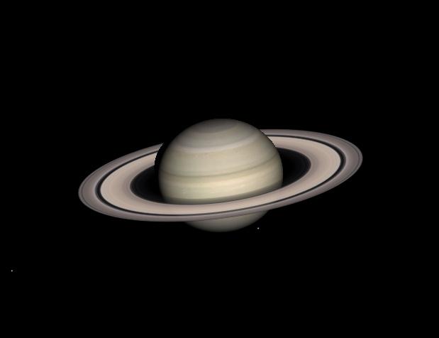 Вид Сатурна в телескоп в июле 2013