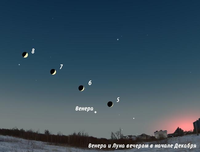 Венера на небе в декабре 2013 года