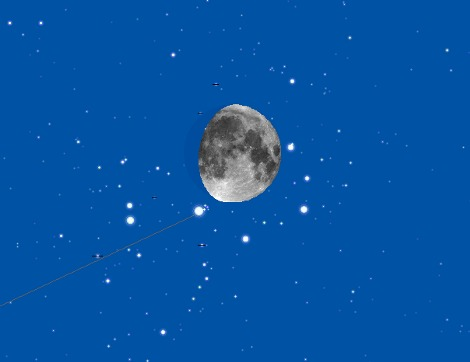 Венера в Плеядах 7 января
